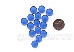 Cultured Sea Glass Cabachons and Art Tiles Coin Puffed <b>12mm</b> 31-Light Sapphire per <b>15-pc-bag</b>