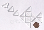 Cultured Sea Glass Cabachons and Art Tiles Triangle Puffed <b>25x12mm</b> 01-Crystal per <b>15-pc-bag</b>
