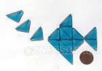 Cultured Sea Glass Cabachons and Art Tiles Triangle Puffed <b>25x12mm</b> 82-Teal per <b>15-pc-bag</b>