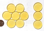 Cultured Sea Glass Cabachons and Art Tiles Coin Puffed <b>25mm</b> 16-Desert Gold per <b>10-pc-bag</b>