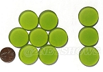 Cultured Sea Glass Cabachons and Art Tiles Coin Puffed <b>25mm</b> 22-Olive per <b>10-pc-bag</b>