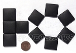 Cultured Sea Glass Cabachons and Art Tiles Square Puffed <b>25mm</b> 02-Jet Black per <b>10-pc-bag</b>