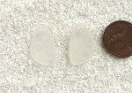 Cultured Sea Glass eclipse Pendants <b>21x13mm</b> 01-Crystal lovely baby size per <b>1-pair-bag</b>