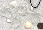 Cultured Sea Glass Large Sea Turtle Pendants <b>35x27mm</b> 01-Crystal per <b>4-pc-bag</b>