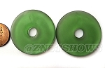 Cultured Sea Glass donut Pendants <b>34mm</b>  25 - Shamrock per <b>piece</b>