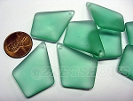 Cultured Sea Glass  Pendants <b>37x27mm</b> 89-Autumn Green per <b>8-pc-bag </b>