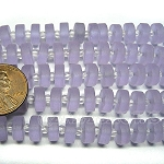Cultured Sea Glass button heishi Beads <b>9mm</b> 39-Periwinkle Changes per <b>5-str-hank</b>