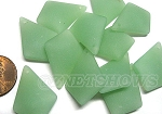Cultured Sea Glass diamond Pendants <b>28x20mm</b> 892-Opaque Seafoam Green per <b>12-pc-bag</b>