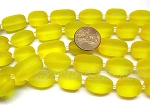 Cultured Sea Glass nugget Beads <b>16-20x12mm</b> 84-Lemon semi-free form nugget per <b>8-in-str</b>