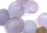 Cultured Sea Glass concaved coin Pendants <b>25mm</b> 39-Periwinkle Changes Bottle bottom style per <b>12-pc-bag</b>