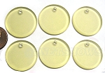 Cultured Sea Glass Flat Coin Pendants <b>25mm</b> 84-Lemon per <b>6-pc-bag</b>