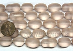 Cultured Sea Glass nugget Beads <b>16-20x12mm</b> 06-Blossom Pink semi-free form nugget per <b>8-in-str</b>