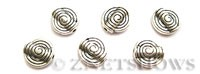 Base Metal Beads <b>11mm</b> Antique Silver Tone spiral pattern (same piece qty as the 5-bag-hank) per   <b>35-pc-bag</b>