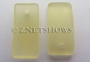Cultured Sea Glass bottle-curved earring rectangle Pendants  <b>22x11mm</b> 16-Desert Gold    per  <b>8-pc-bag</b>