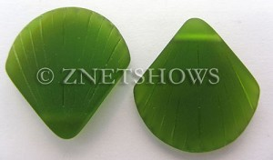 Cultured Sea Glass shell Pendants  <b>30x28mm</b> 22-Olive    per  <b>10-pc-bag</b>