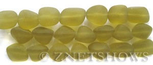 Cultured Sea Glass nugget Beads  <b>10-15mm</b>  10-Sunglow (7-pc-str)   per  <b>5-strand-hank</b>