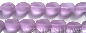 Cultured Sea Glass nugget Beads  <b>10-15mm</b> 39-Periwinkle Changes (7-pc-str)   per  <b>5-strand-hank</b>