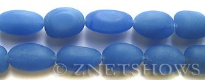 Cultured Sea Glass nugget Beads  <b>18-22mm</b> 47-Opaque Sky Blue (6-pc-str)(4-in-str)   per  <b>5-str-hank</b>