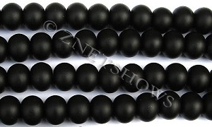 Cultured Sea Glass rondelle Beads  <b>14x10mm</b> 02-Jet Black    per  <b>5-str-hank</b>
