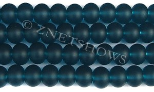 Cultured Sea Glass rondelle Beads  <b>14x10mm</b> 82-Teal    per  <b>5-str-hank</b>