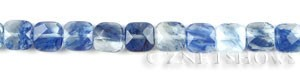 Other stone & material blueberry glass quartz square puffed Beads <b>10mm</b>     per   <b> 15.5 inch-str</b>