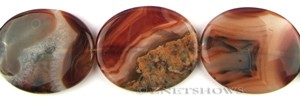 agate red agate oval puffed Pendants <b>50x40mm</b> color enhanced    per   <b> piece</b>
