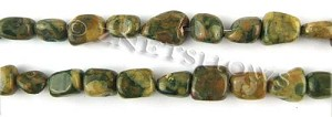 Other stone & material Rhyolite nugget Beads <b>about 10x8mm</b>     per   <b> 15.5-in-str</b>