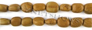 Other stone & material wood jasper nugget Beads <b>about 14x11mm</b>     per   <b> 15.5-in-str</b>