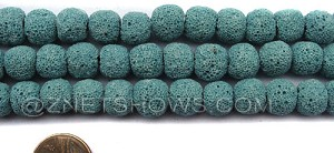 lava lava - 28-Turquoise Bay round Beads <b>10mm</b> dyed    per   <b> 8-in-str</b>