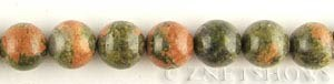 Other stone & material unakite round Beads <b>14mm</b>     per   <b> 15.5-in-str</b>