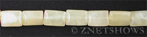 yellow jasper  rectangle puffed Beads <b>12x8mm</b>  length-drilled   per   <b> 15.5-in-str</b>