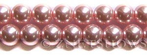 Glass Pearls <b>14mm</b> Round pink  K502   per <b>15.5-in-str</b>