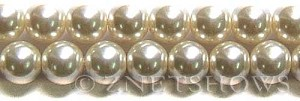 Glass Pearls <b>14mm</b> Round off white   K822   per <b>15.5-in-str</b>