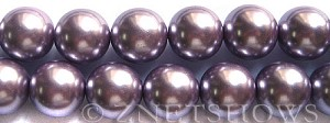 Glass Pearls <b>16mm</b> Round orchid Color K562   per <b>15.5-in-str</b>
