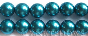 Glass Pearls <b>16mm</b> Round Montana Color K735   per <b>15.5-in-str</b>