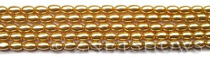 Glass Pearls <b>6x4mm</b> Rice Champagne K1120(15.5-in-str)   per <b>5-str-bag</b>
