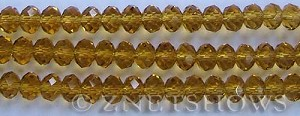 Tiaria Glass Crystal 16-Desert Gold rondelle Beads <b>8x5mm</b> faceted     per   <b> 10-str-hank</b>