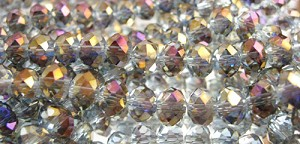 Tiaria Glass Crystal 116-Heliotrope Purple rondelle Beads <b>8x5mm</b> faceted     per   <b> 10-str-hank</b>