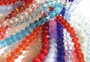 Tiaria Glass Crystal Grab Bag Grab Bag Beads <b>8x5mm</b> faceted     per   <b> 10-str-hank</b>
