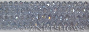 Tiaria Glass Crystal 39AB-Periwinkle Changes AB rondelle Beads <b>8x5mm</b> faceted     per   <b> 10-str-hank</b>