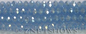 Tiaria Glass Crystal 47AB-Opaque Sky Blue AB rondelle Beads <b>8x5mm</b> faceted     per   <b> 10-str-hank</b>