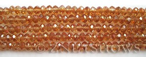Tiaria Glass Crystal 93-Wine Red rondelle Beads <b>6x4mm</b> faceted     per   <b> 10-str-hank (50-pc-str)</b>