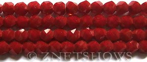 Tiaria Glass Crystal 49-Ruby Red twist Beads <b>10mm</b> faceted     per   <b> 20-pc-str</b>