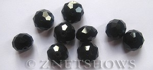 Tiaria Glass Crystal 02-Jet Black rondelle Beads <b>14x10mm</b> faceted     per   <b> 10-pc-bag</b>