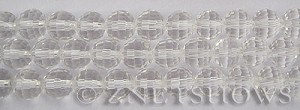 Tiaria Glass Crystal 01-Crystal round Beads <b>10mm </b> faceted     per   <b> 8-in-str  (24-pc-str) </b>