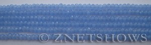 Tiaria Glass Crystal 47-Opaque Sky Blue rondelle Beads <b>3x2mm</b> faceted     per   <b> 100-pc-str</b>