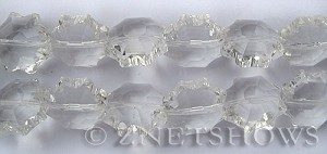 Tiaria Glass Crystal 01-Crystal flower Beads <b>18mm</b> faceted     per   <b> 13-pc-str</b>