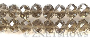 Tiaria Glass Crystal 69-Tan Color rondelle Beads <b>16x12mm </b> faceted      per   <b> 12-pc-str </b>