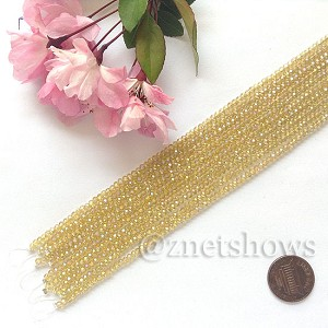 Tiaria Glass Crystal rondelle Beads <b>About 2x2.5mm</b> faceted 16AB-Desert Gold AB  (8-in-str,about 100-pc-str) per <b>10-str-bag</b>