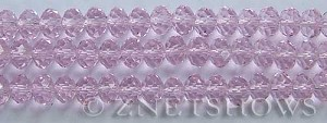 Tiaria Glass Crystal 06-Blossom Pink rondelle Beads <b>8x5mm</b> faceted     per   <b> 8-in-str</b>